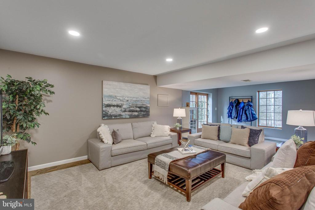 The walkout lower level is huge with room for all. - 12060 ROSE HALL DR, CLIFTON