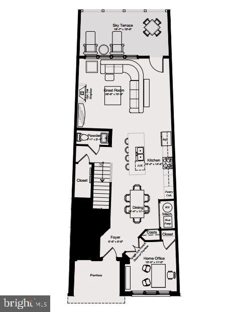 Main level floor plan - 46448 RILASSARE TER, STERLING