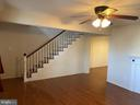 Family room facing stairs - 562 LAFAYETTE BLVD, FREDERICKSBURG
