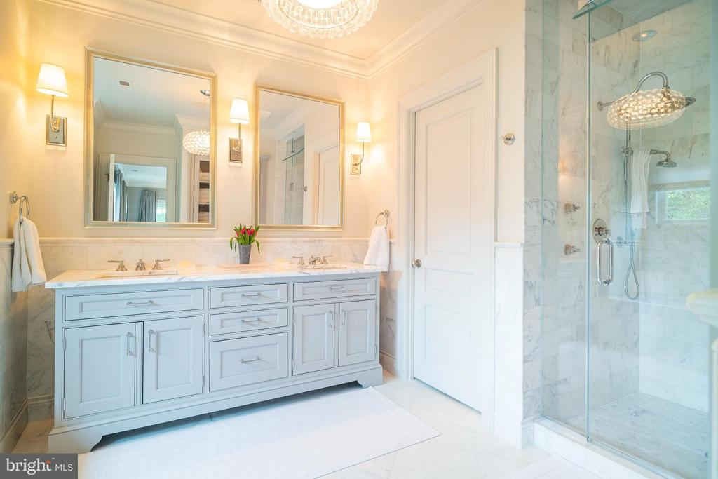Gorgeous Master Bath - 6303 BROAD BRANCH RD, CHEVY CHASE