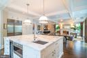 Kitchen Flows into Large Family Room - 6303 BROAD BRANCH RD, CHEVY CHASE