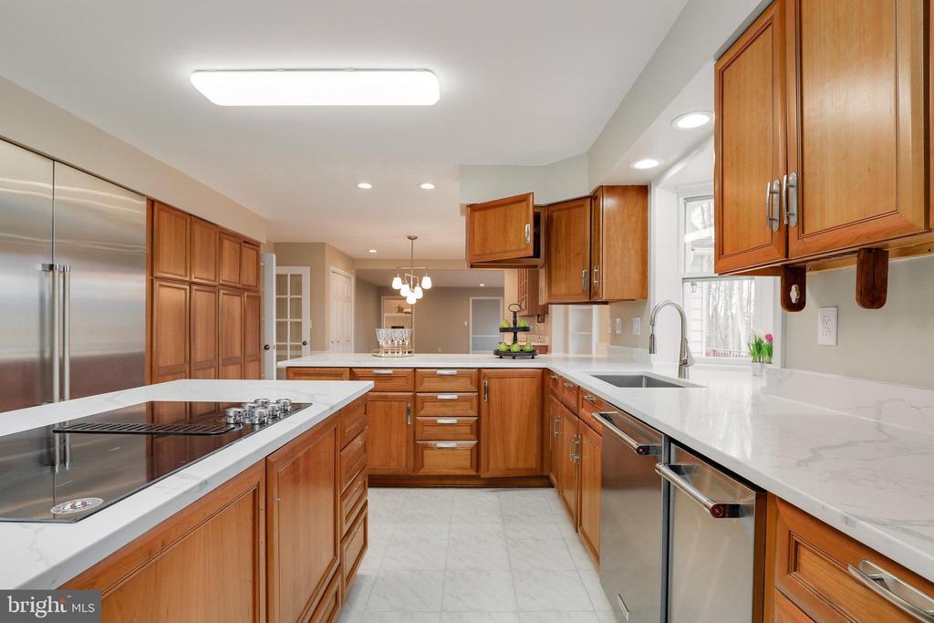 Gourmet kitchen - high end brand new appliances - 7810 WARFIELD RD, GAITHERSBURG