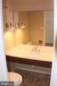 Half bath w/ new granite counter, fixtures, toilet - 2700 VIRGINIA AVE NW #504, WASHINGTON