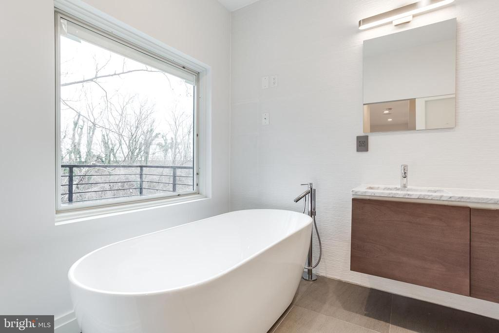 Private view from master soaking tub. - 2951 FORT BAKER DR SE, WASHINGTON