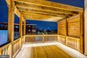 Rooftop Deck in Evening Light - 1013 O ST NW, WASHINGTON