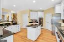 Center island for additional work space - 47285 OX BOW CIR, STERLING