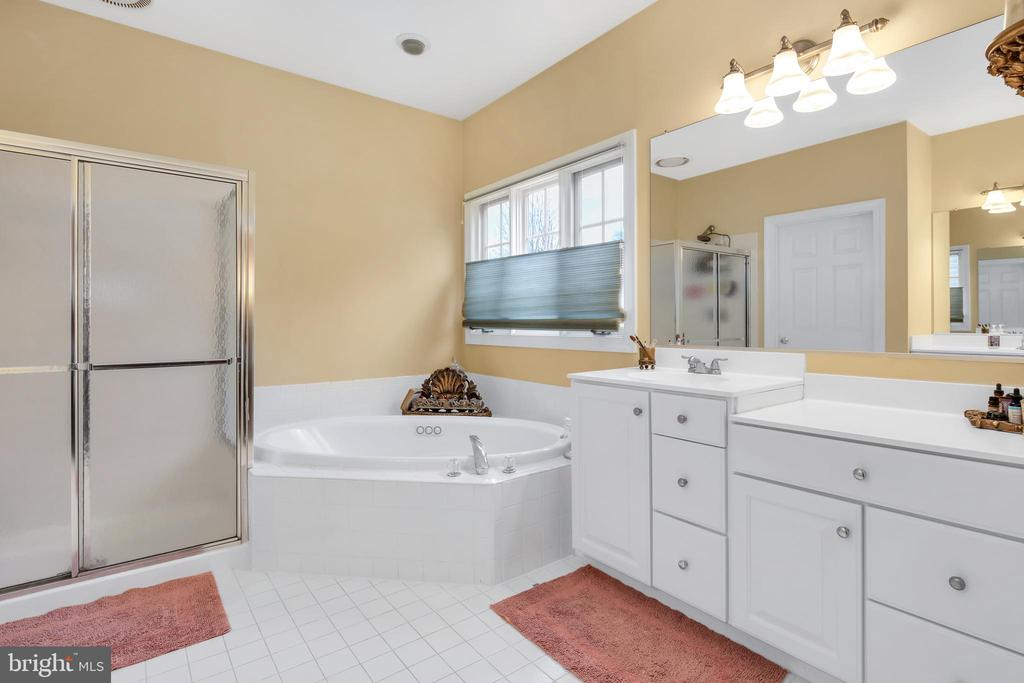 Tiled ensuite master bath - 47285 OX BOW CIR, STERLING