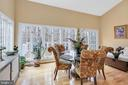 Window-filled sun room with walk out to deck - 47285 OX BOW CIR, STERLING