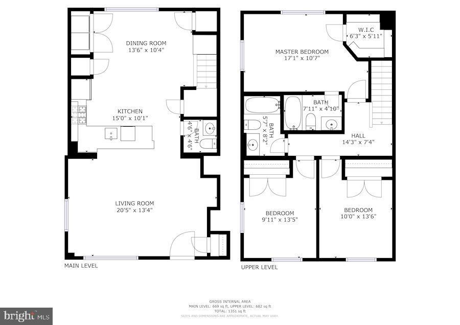 Floor plan - 1575 N VAN DORN ST, ALEXANDRIA