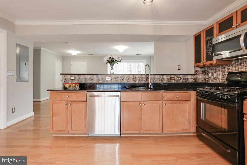 Granite counters, stainless steel, gas cooking - 1575 N VAN DORN ST, ALEXANDRIA