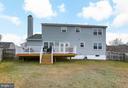 Back yard Large deck, Vinyl hand rail - 4 MARKHAM WAY, STAFFORD