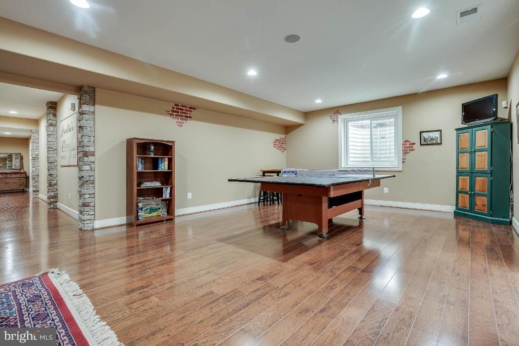Spacious Rec Room with Walkup Stairs to Rear Yard - 21883 KNOB HILL PL, ASHBURN
