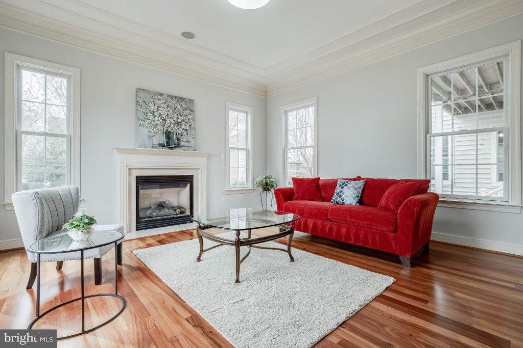 Formal Living Room with Fireplace - 21883 KNOB HILL PL, ASHBURN