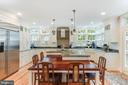 Dining Space at lowered Kitchen Wood Counter - 136 LAFAYETTE AVE, ANNAPOLIS