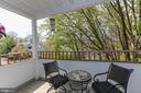 Amazing balcony overlooking trees - 7700 LAFAYETTE FOREST DR #23, ANNANDALE