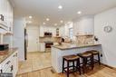 Eat-In Kitchen | Breakfast Bar - 10419 GORMAN RD, LAUREL