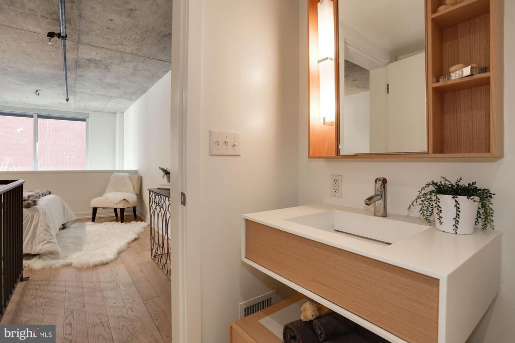 Bathroom into Bedroom - 1515 15TH ST NW #206, WASHINGTON