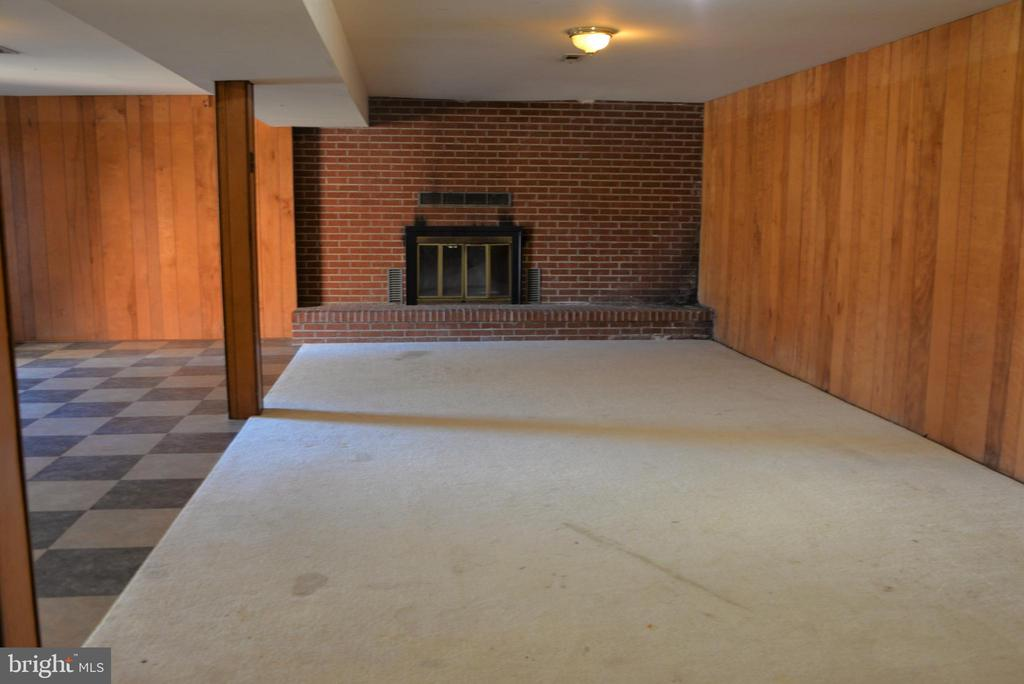 Basement with fireplace - 3736 MASSAPONAX CHURCH RD, FREDERICKSBURG
