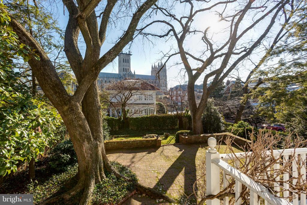 Rear Terrace with National Cathedral Views - 3562 MACOMB ST NW, WASHINGTON