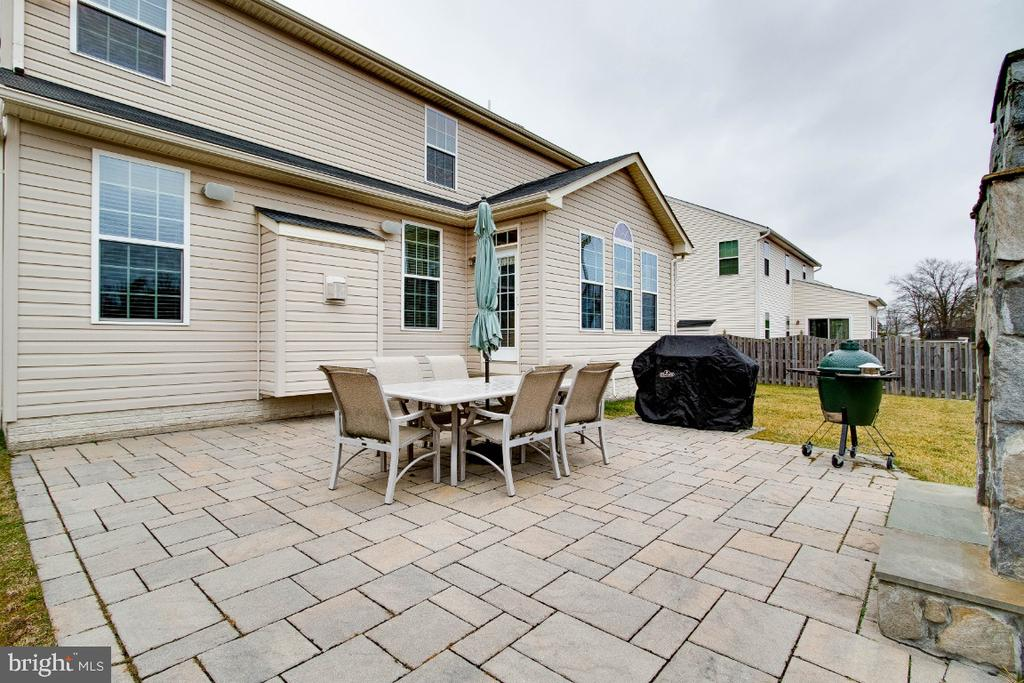 Paver Patio with Stone Wood  Burning Fireplace - 26003 KIMBERLY ROSE DR, CHANTILLY