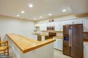 Gorgeous wood countertops - basement kitchenette - 2252 PARTLOW RD, BEAVERDAM