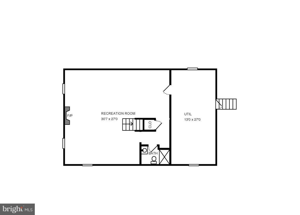 Lower level floor plan. - 6951 GREENTREE RD, BETHESDA