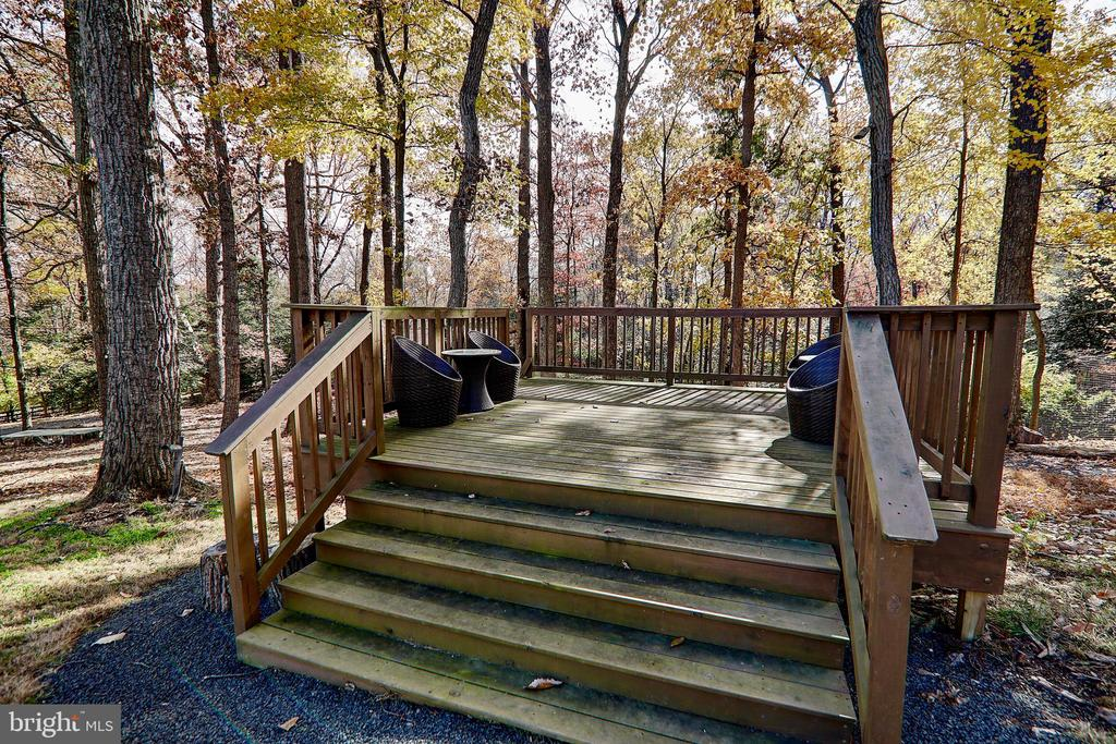 Backyard Deck to enjoy nature and views - 10600 VICKERS, VIENNA