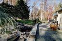 Back Yard Patio with a small  Waterfall - 10600 VICKERS, VIENNA