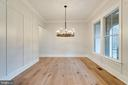 Dining room with custom trim - 10317 BURKE LAKE RD, FAIRFAX STATION