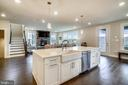 Infinity Island with Quartz Counters - 6141 FALLFISH CT, NEW MARKET