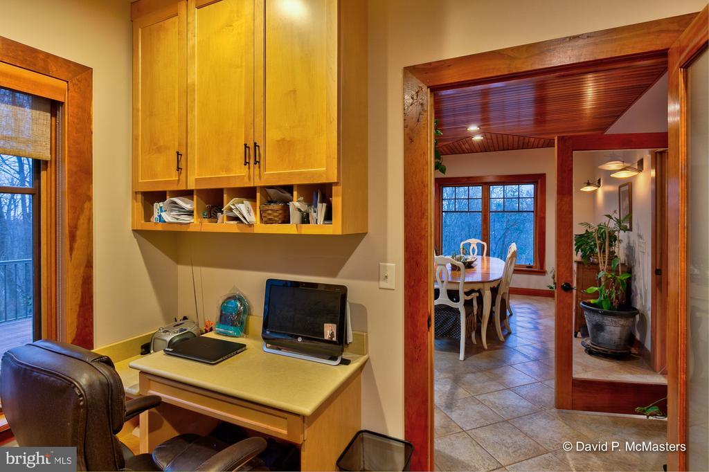 Office off dining room Custom built ins - 212 CICADA DR, MARTINSBURG
