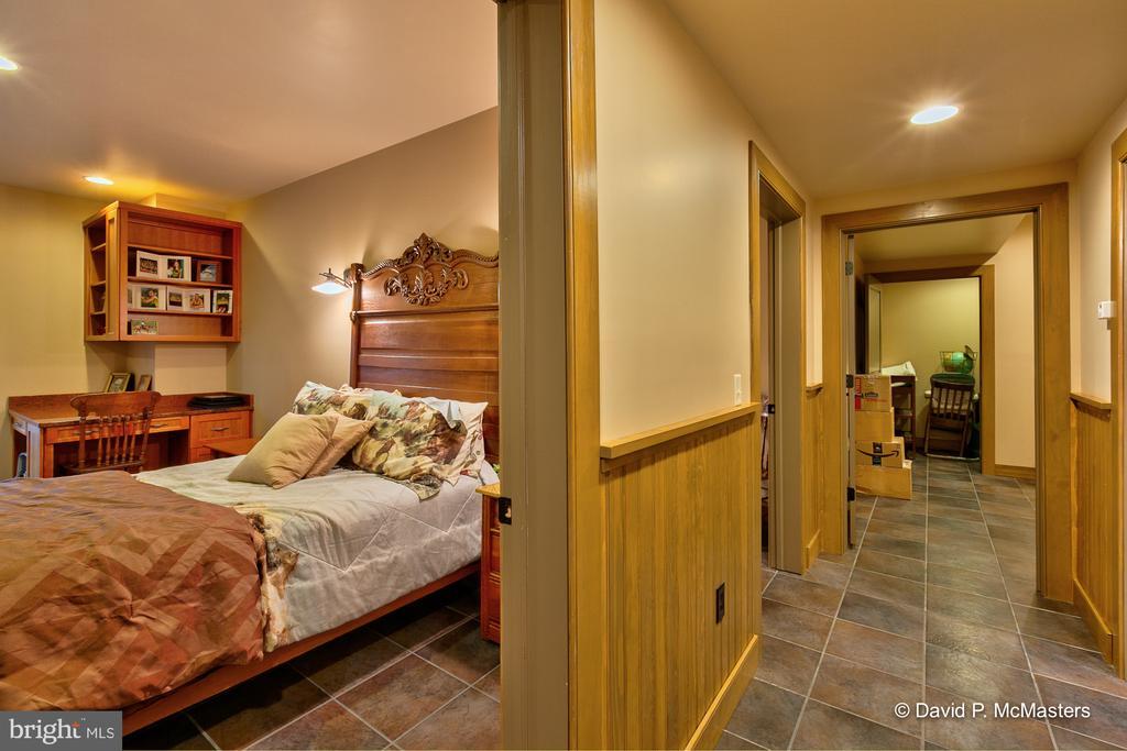 Lower level bedroom. Note built-ins - 212 CICADA DR, MARTINSBURG