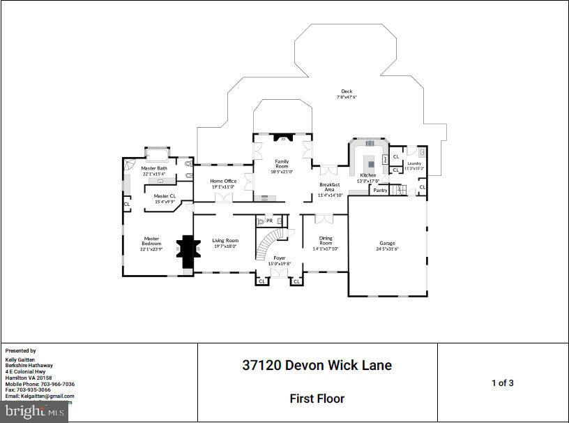 First Floor Plan - 37120 DEVON WICK LN, PURCELLVILLE