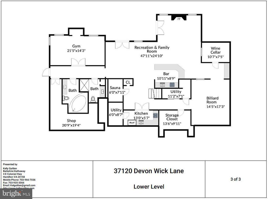 Lower Level Floor Plan - 37120 DEVON WICK LN, PURCELLVILLE