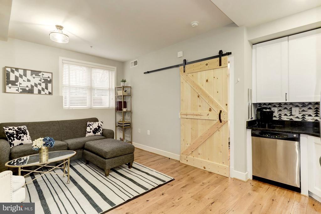 Barn Door to Bedroom - 1425 11TH ST NW #103, WASHINGTON