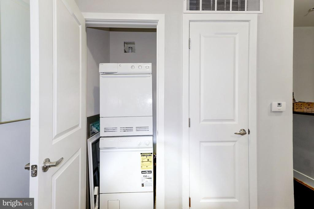 Stackable Washer & Dryer & Utility Closet Storage - 1425 11TH ST NW #103, WASHINGTON