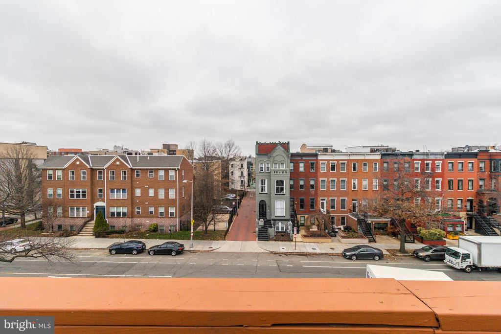 View of 11th St from RoofDeck - 1425 11TH ST NW #103, WASHINGTON