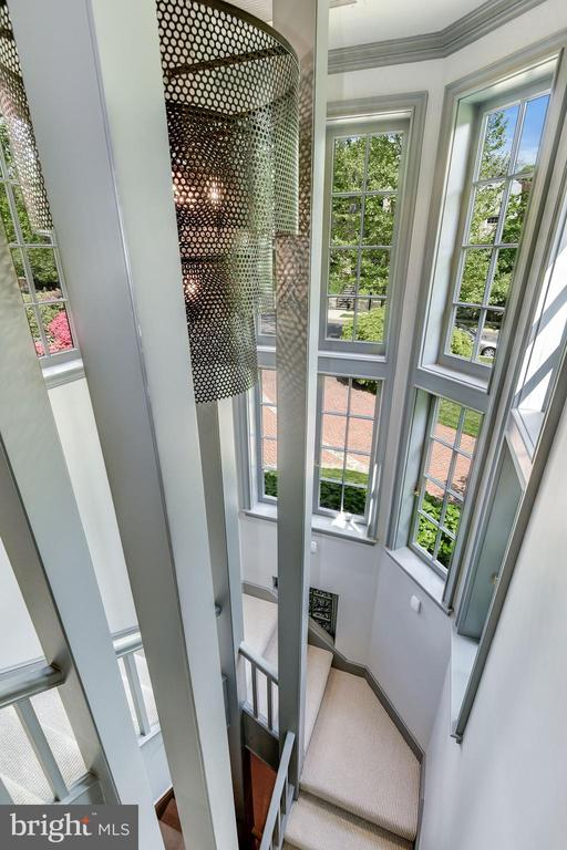 Private turret stairway accessing Owner Suite - 4400 GARFIELD ST NW, WASHINGTON