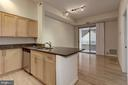 Gourmet Open Kitchen featuring Stainless Steel App - 7500 WOODMONT AVE #S208, BETHESDA