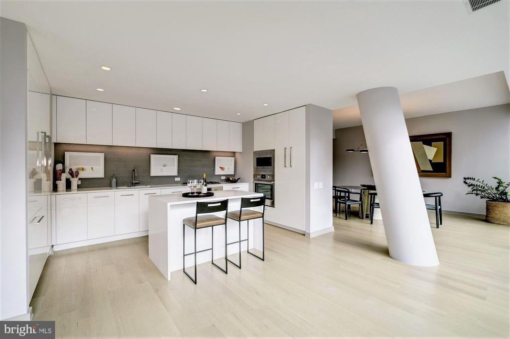 Euro Chic Kitchens with Natural Gas Cooktops - 1111 24TH ST NW #23, WASHINGTON