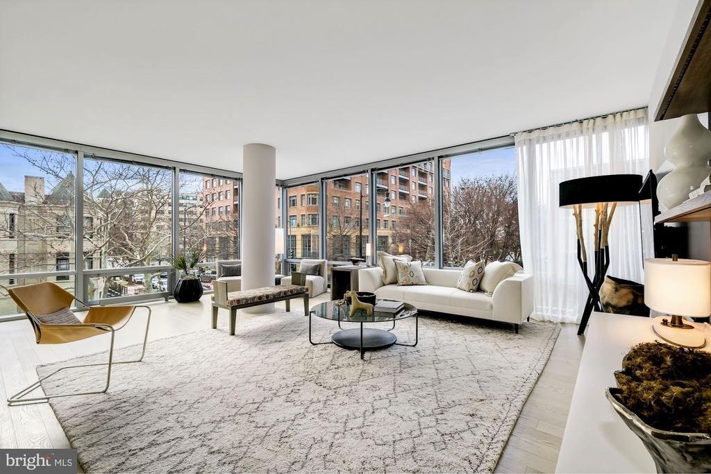 Living Room on the Southwest Corner - 1111 24TH ST NW #23, WASHINGTON