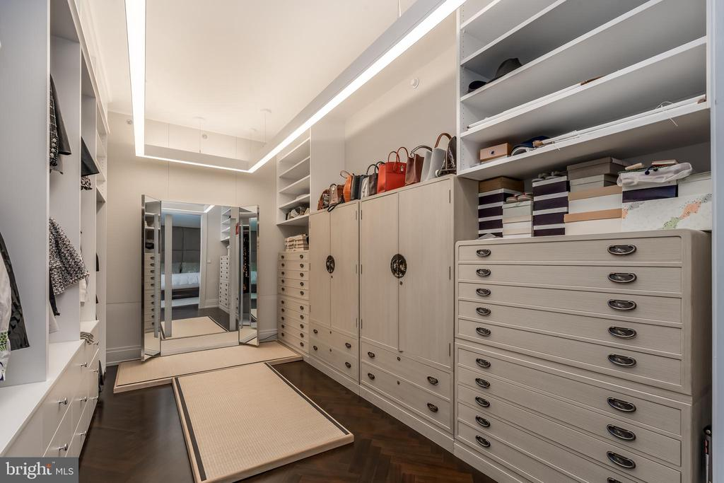 Custom built-ins in extra large Master Closet. - 3150 SOUTH ST NW #1A, WASHINGTON