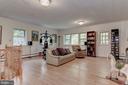 The large lower level Family Room - 2747 N NELSON ST, ARLINGTON