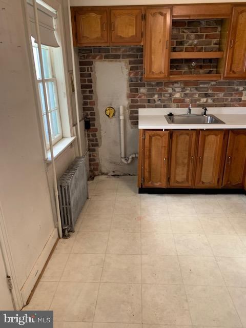 Kitchen - space for stackable washer/dryer - 240 E 2ND ST, FREDERICK