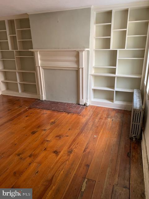 Living Room with beautiful built-ins and hardwood - 240 E 2ND ST, FREDERICK