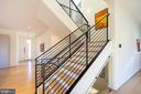 Tempered Glass allows light for lower stairs - 114 TAPAWINGO RD SW, VIENNA
