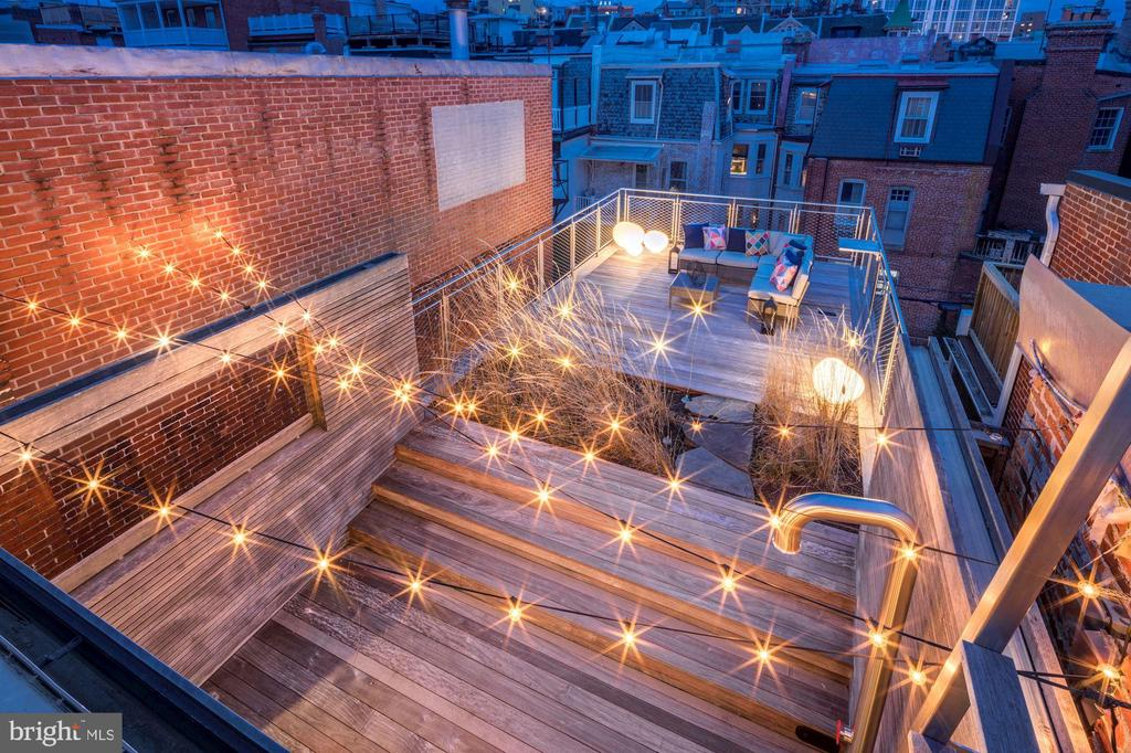 Roof Top Deck with Movie Theater set up - 2113 S ST NW, WASHINGTON