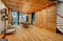 Hand Cut White Oak Woodwork creates Dining Area - 2113 S ST NW, WASHINGTON
