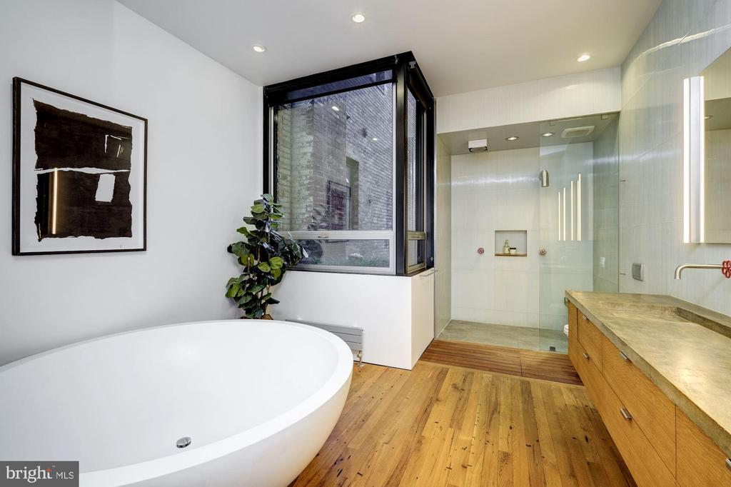 Spa like Owners' Bathroom with Enormous Boffi Tub - 2113 S ST NW, WASHINGTON