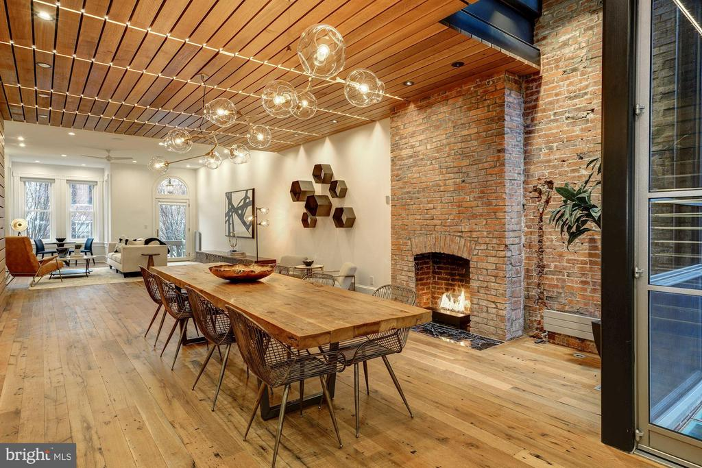 First Floor Dining Area with Gas Fireplace - 2113 S ST NW, WASHINGTON